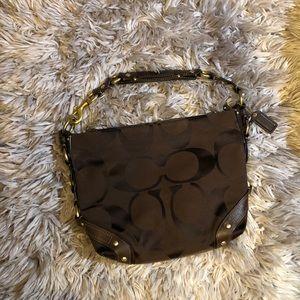 Brown Coach Boho Shoulder Bag
